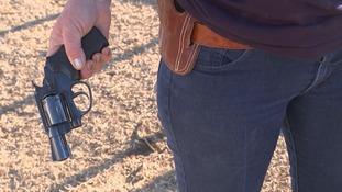 Bernadette Hall has carried a handgun since her husband's murder.