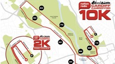 Cardiff 10k route