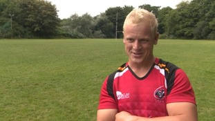 Cornish Pirates' newest rugby star swaps the farm for the beach