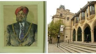 Painting of Northampton's first Asian mayor stolen from town's Guildhall