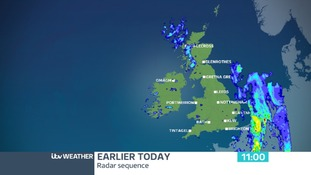 Rain spread eastwards last night introducing milder air