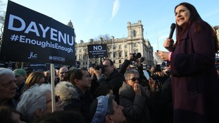 A protest against anti-Semitism in the Labour Party was held in Parliament Square in March.