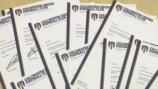 The letters went out from 15 Colchester United players