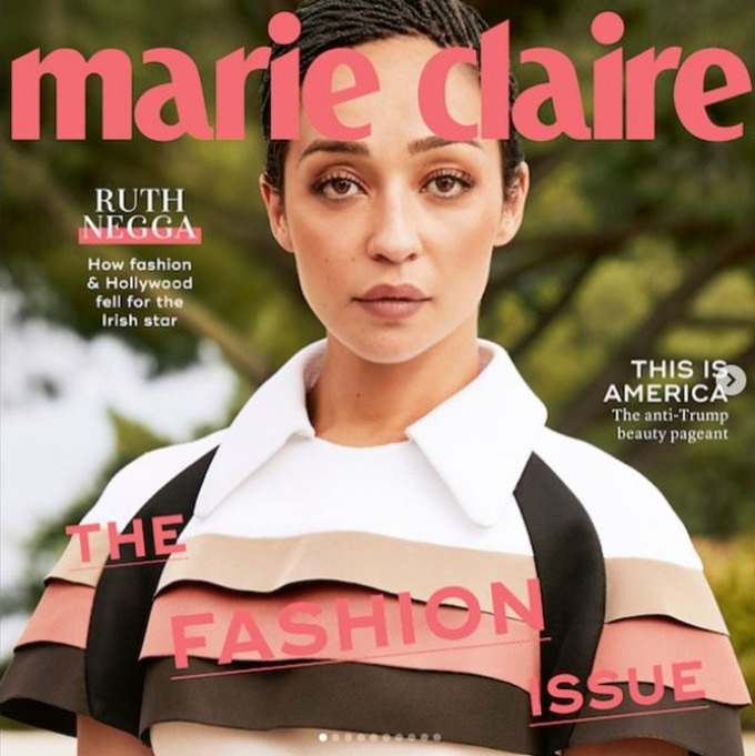 Ruth Negga is on Marie Claire's September cover.