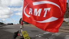 RMT Union picket line