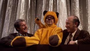 Morecambe and Wise in a sketch with Sooty and Harry Corbett (BBC History/PA)