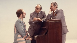 The comedy duo sing with Elton John.