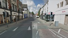Firearms officers arrived at Church Street in Stoke-on-Trent at around 8:20am this morning.