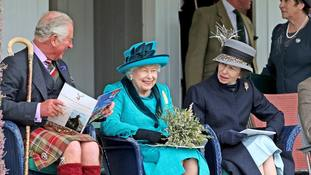 In Pictures: Family day out for Queen, Charles and Anne at Braemar Gathering
