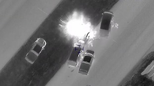 Footage shows moment Texas bombing suspect Mark Conditt blows himself up during police chase