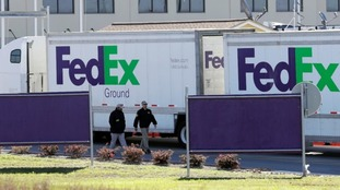 One of the explosions took place at a FedEx distribution centre.