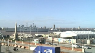HMS Illustrious arriving in Liverpool on Thursday