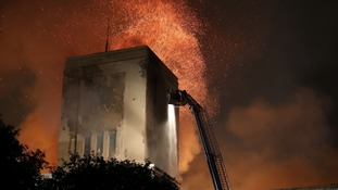 Firefighters were alerted to the blaze at 7.52pm.