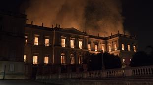 '200 years of work, investigation and knowledge have been lost': Massive blaze engulfs museum in Rio de Janeiro