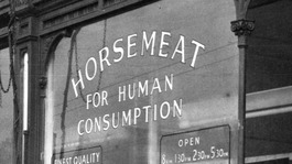 Horsemeat sold in Harrow Road, London, 1953