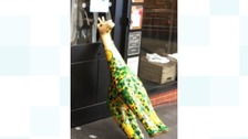 Police have tweeted a picture of the giraffe used in the shop attack