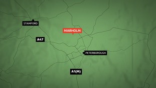 The crash happened at Marholm.