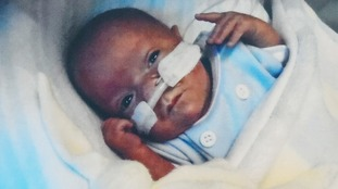 Theo spent around four months in hospital before his family could take him home.