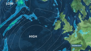 A ridge of High Pressure from the southwest delivers our best day midweek
