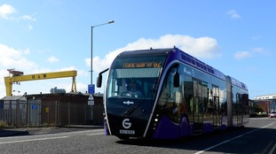 Belfast's Glider buses officially hit the road