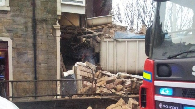 Lorry crash in Fairlie, North Ayrshire demolished the side of a house