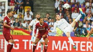 Gareth Bale's overhead kick in Champions League final nominated for goal of the season award