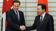Prime Minister David Cameron meets with Japanese Prime Minister Yoshihiko Noda