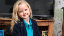 Four-year-old Jenna Smith has started school