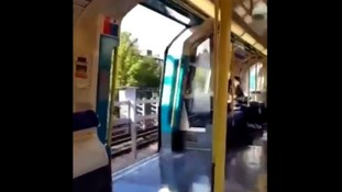 Tube travels at full speed with doors wide open