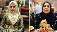 Raneem Oudeh (left) and her mother Khaola Saleem were killed outside Ms Saleem's house in Solihull.