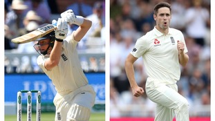Chris Woakes and Ollie Pope