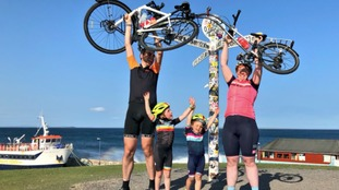Four-year-old cyclist completes epic Land's End to John O'Groats journey
