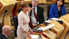 Nicola Sturgeon in the Scottish Parliament