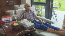 Yvonne Rowe, a patient at St Teresa's Hospice.