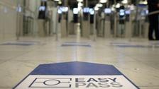 E-gates at airport