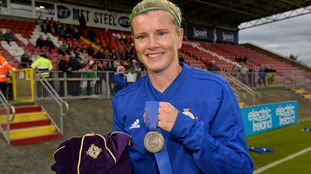 NI captain Julie Nelson celebrated a special milestone, earning her 100th cap