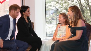 Duke and Duchess of Sussex with Chloe Henderson and her mother