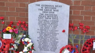 This war memorial was defaced by the 17-year old boy.