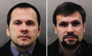 Alexander Petrov, left, and Ruslan Boshirov