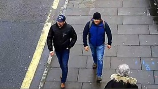 CCTV of the suspects in the UK was released on Wednesday.