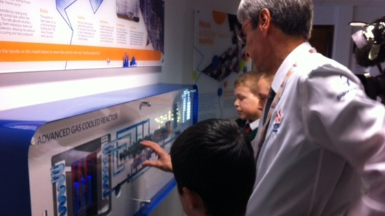 Children learn how reactor works