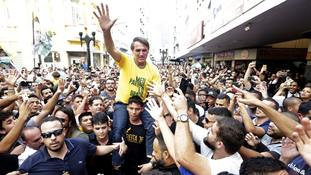 Brazilian presidential candidate Jair Bolsonaro in serious condition after stabbing