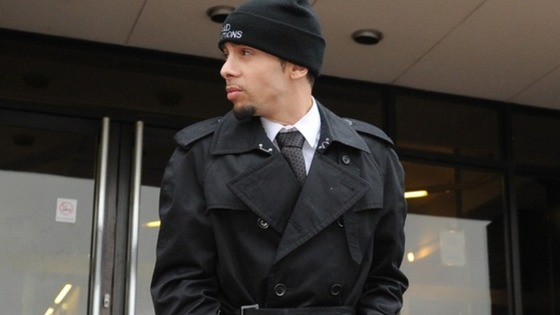 N-Dubz rapper Dappy, real name Dino Costas Contostavlos, leaves Guildford Crown Court