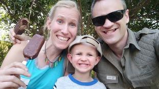 Katy Williams Dr Sam Williams with their three-year-old son Finn.