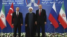 Vladimir Putin, Hassan Rouhani and Recep Tayyip Erdogan