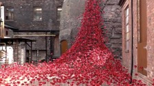 The Weeping Window poppy sculpture at Middleport Pottery