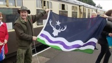 Wildlife presenter Johnny Kingdom was instrumental in choosing a flag for Exmoor.