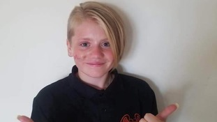 Sister of tragic Devon girl 'told off' over charity haircut