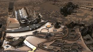 Nasa's Mars rover Curiosity snaps a dusty selfie