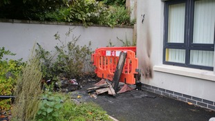 The woman and her young child were in the house in north Belfast at the time of the suspected arson attack